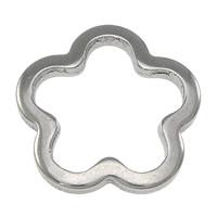 Roestvrij staal ring connectors, Bloem, oorspronkelijke kleur, 14x14x1.50mm, 500pC's/Lot, Verkocht door Lot