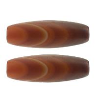 Natural Tibetan Agate Dzi Beads, Oval, Buddhist jewelry, 40x14mm, Hole:Approx 2mm, 10PCs/Lot, Sold By Lot