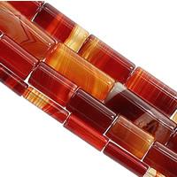 الدانتيل العقيق خرزة, عمود, حجم مختلفة للاختيار, أحمر, حفرة:تقريبا 1.2mm, طول:تقريبا 15 بوصة, تباع بواسطة الكثير