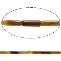 مدغشقر العقيق خرزة, عمود, لون القهوة, 13x4mm, حفرة:تقريبا 1mm, طول:تقريبا 15 بوصة, 5جدائل/الكثير, تقريبا 29/حبلا, تباع بواسطة الكثير