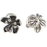Thailand Sterling Silver Pendants, Flower, 11x8mm, 20PCs/Bag, Sold By Bag