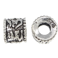 Thailand Sterling Silver Beads, Rondelle, large hole, 6x4mm, Hole:Approx 3mm, 30PCs/Bag, Sold By Bag