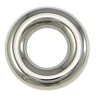 Roestvrij staal ring connectors, Donut, oorspronkelijke kleur, 15x4mm, 100pC's/Lot, Verkocht door Lot