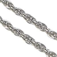 Łańcuch Lina ze stali nierdzewnej, Stal nierdzewna, lina łańcucha, oryginalny kolor, 2.50x0.40mm, 100m/wiele, sprzedane przez wiele