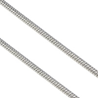 Stainless Steel Snake Chain, original color, 1.20mm, 100m/Lot, Sold By Lot