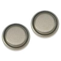 литий аккумулятор, Плоская круглая форма, Платиновое покрытие платиновым цвет, не содержит никель, свинец, 9.50x2mm, 50Наборы/Лот, продается Лот