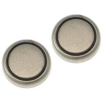 литий аккумулятор, Плоская круглая форма, Платиновое покрытие платиновым цвет, не содержит никель, свинец, 8x2mm, 50Наборы/Лот, продается Лот