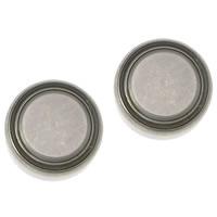 литий аккумулятор, Плоская круглая форма, Платиновое покрытие платиновым цвет, не содержит никель, свинец, 11.50x5mm, 50Наборы/Лот, продается Лот