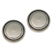 литий аккумулятор, Плоская круглая форма, Платиновое покрытие платиновым цвет, не содержит никель, свинец, 11.50x3mm, 50Наборы/Лот, продается Лот