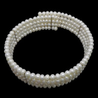 Freshwater Pearl Choker Necklace Round natural white 5x6mm Sold Per Approx 14 Inch Strand