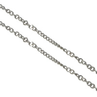 Łańcucha krawężnika ze stali nierdzewnej, Stal nierdzewna, łańcucha krawężnika, oryginalny kolor, 2x1.5x0.5mm, 1x1x0.5mm, 100m/wiele, sprzedane przez wiele