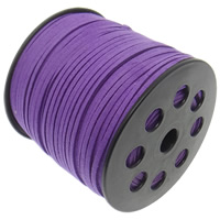 Velveteen Cord, purple, 3x1.50mm, Length:100 , Sold By PC
