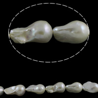 Cultured Freshwater Nucleated Pearl Beads, Keishi, natural, white, Grade AAA, 13-15mm, Hole:Approx 0.8mm, Sold Per Approx 15.7 Inch Strand