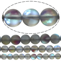 Glass Beads, Round, plated, more sizes for choice, Hole:Approx 1mm, Sold By Lot