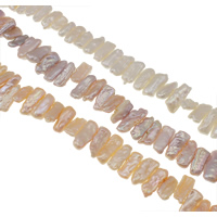 Biwa Cultured Freshwater Pearl Beads, natural, more colors for choice, Grade AA, 8-20mm, Hole:Approx 0.8mm, Sold Per Approx 15.3 Inch Strand