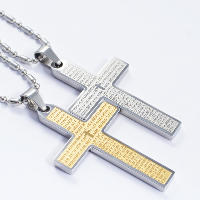 Titanium Steel Pendants, Cross, plated, more colors for choice, 30x60mm, Hole:Approx 4x7mm, 5PCs/Lot, Sold By Lot