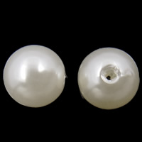 Plastic Beads, ABS Plastic, Round, white, 8mm, Hole:Approx 2mm, Approx 2000PCs/Bag, Sold By Bag