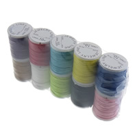Wax Cord Polyamide with plastic spool mixed colors 1mm Length:Approx 80 m 10PCs/Lot