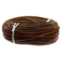 Sznur z krowiej skóry Przewód wstążka, brązowy, 7x2mm, 100stoczni/wiele, sprzedane przez wiele