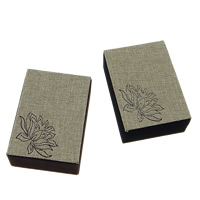 Linen Pendant Box, with Velveteen & Plastic, Rectangle, with flower pattern, more colors for choice, 71x100x40mm, 30PCs/Lot, Sold By Lot
