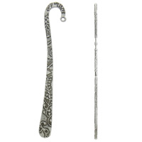 Zinc Alloy Bookmark, antique silver color plated, lead & cadmium free, 24.50x120x3mm, Hole:Approx 3mm, Sold By PC