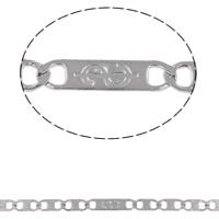 Łańcuch ze stali nierdzewnej Valentino, Stal nierdzewna, Valentino łańcucha, oryginalny kolor, 7x2.8x0.5mm, 11.5x2.9x0.5mm, 10m/torba, sprzedane przez torba