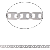 Stainless Steel Valentino Chain, original color, 5x2.50x0.50mm, 10m/Bag, Sold By Bag