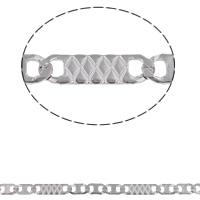 Łańcuch ze stali nierdzewnej Valentino, Stal nierdzewna, Valentino łańcucha, oryginalny kolor, 5x2.5x0.5mm, 9x2.5x0.5mm, 10m/torba, sprzedane przez torba