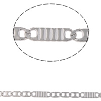 Stainless Steel Valentino Chain, original color, 5x2.5x0.5mm, 9x2.5x0.5mm, 10m/Bag, Sold By Bag
