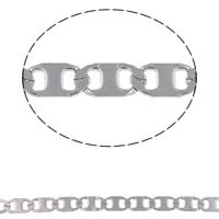 Stainless Steel Valentino Chain, original color, 11x5x0.50mm, 10m/Bag, Sold By Bag