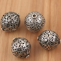 Thailand Sterling Silver Beads, Lantern, hollow, 20x23.3mm, Hole:Approx 2mm, Sold By PC