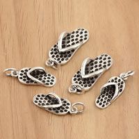 Thailand Sterling Silver Pendants, Shoes, different size for choice, Hole:Approx 3.5mm, Sold By Bag