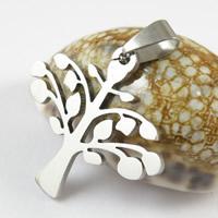 Titanium Steel Pendants, Tree, original color, 30x33mm, Hole:Approx 3mm, 50PCs/Lot, Sold By Lot