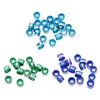 Alumiini Välihelmi, Sarake, maalannut, enemmän värejä valinta, nikkeli, lyijy ja kadmium vapaa, 6x4mm, Reikä:N. 2mm, N. 1000PC/laukku, Myymät laukku