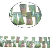 Imitation CRYSTALLIZED™ Element Crystal Beads, Keystone, colorful plated, different size for choice & faceted & imitation CRYSTALLIZED™ element crystal, Chrysolite Satin, Hole:Approx 1mm, Sold Per Approx 15.5 Inch Strand