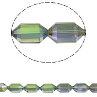 Imitation CRYSTALLIZED™ Element Crystal Beads, Bicone, colorful plated, different size for choice & faceted & imitation CRYSTALLIZED™ element crystal, Crystal Green, Hole:Approx 1mm, Sold Per Approx 15.5 Inch Strand