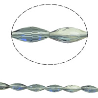 Imitation CRYSTALLIZED™ Element Crystal Beads, Double Cone, colorful plated, different size for choice & faceted & imitation CRYSTALLIZED™ element crystal, Crystal Bronze Shade, Hole:Approx 1mm, Sold Per Approx 15.5 Inch Strand