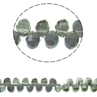 Imitation CRYSTALLIZED™ Element Crystal Beads, colorful plated, different size for choice & faceted & imitation CRYSTALLIZED™ element crystal, Montana, Hole:Approx 1mm, Sold Per Approx 13 Inch Strand