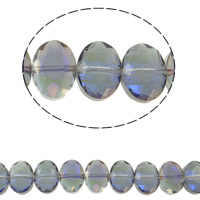 Imitation CRYSTALLIZED™ Element Crystal Beads, Ellipse, colorful plated, different size for choice & faceted & imitation CRYSTALLIZED™ element crystal, Light Colorado Topaz AB2x, Hole:Approx 1.5mm, Sold Per Approx 15.5 Inch Strand