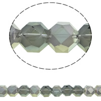Imitation CRYSTALLIZED™ Element Crystal Beads, Octagon, colorful plated, different size for choice & faceted & imitation CRYSTALLIZED™ crystal, Crystal Bronze Shade, 12mm, Hole:Approx 1mm, Approx 50PCs/Strand, Sold Per Approx 15.5 Inch Strand