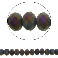 Imitation CRYSTALLIZED™ Element Crystal Beads, Rondelle, colorful plated, different size for choice & faceted & imitation CRYSTALLIZED™ crystal, Jet, Hole:Approx 1mm, Sold Per Approx 15.5 Inch Strand