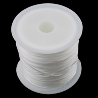 Elastic Thread, with plastic spool, white, 0.8mm, undefinedPCs/Bag, Sold By Bag