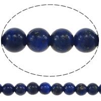 Koraliki Lapis Lazuli, Lapis lazuli naturalny, Koło, 3.50mm, otwór:około 0.5mm, długość:około 16 cal, 5nici/wiele, około 122/Strand, sprzedane przez wiele