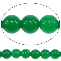 Natural Green Agate Beads, Round, 6.50mm, Hole:Approx 1mm, Length:Approx 15.5 Inch, 10Strands/Lot, Approx 64/Strand, Sold By Lot