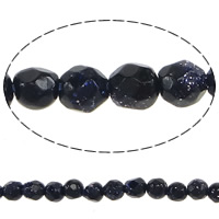 Natural Blue Goldstone Beads, Oval, faceted, 2mm, Hole:Approx 0.2mm, Length:Approx 15 Inch, 5Strands/Lot, Approx 172/Strand, Sold By Lot
