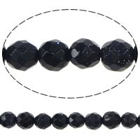 Blue Goldstone Beads, Round, faceted, 3.50mm, Hole:Approx 0.3mm, Length:Approx 15 Inch, 5Strands/Lot, Approx 111/Strand, Sold By Lot