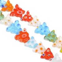 Millefiori Glass Beads, Butterfly, handmade, mixed colors, 11x8.5mm, Hole:Approx 1mm, Length:Approx 12.5 Inch, 10Strands/Bag, Sold By Bag
