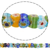 Бисер, выполненный в технике миллефиори, шеврон, Сердце, Связанный вручную, разноцветный, 6x12mm, отверстие:Приблизительно 1mm, длина:Приблизительно 12.5 дюймовый, 10пряди/сумка, продается сумка