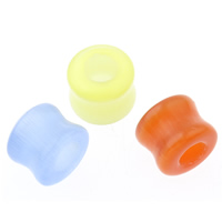 Cats Eye Large Hole Bead Column mixed colors 13x10mm Hole:Approx 5mm 10PCs/Bag