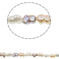 Keishi Cultured Freshwater Pearl Beads, natural, mixed colors, 12-15mm, Hole:Approx 0.8mm, Sold Per Approx 15.7 Inch Strand